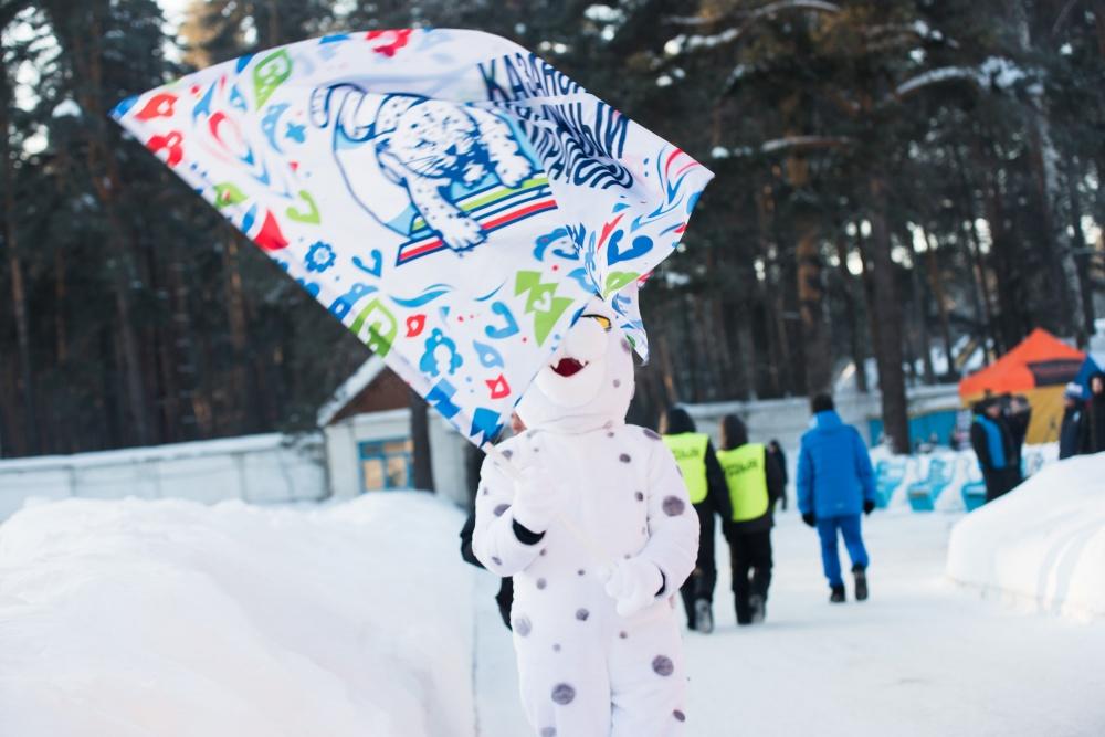 Талисман марафона - традиционный казанский барс